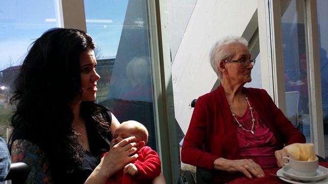 Margrét, Salome Birta og Emelía.